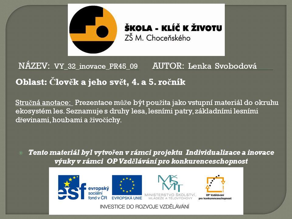 Název: VY_32_inovace_PR45_09 Autor: Lenka Svobodová
