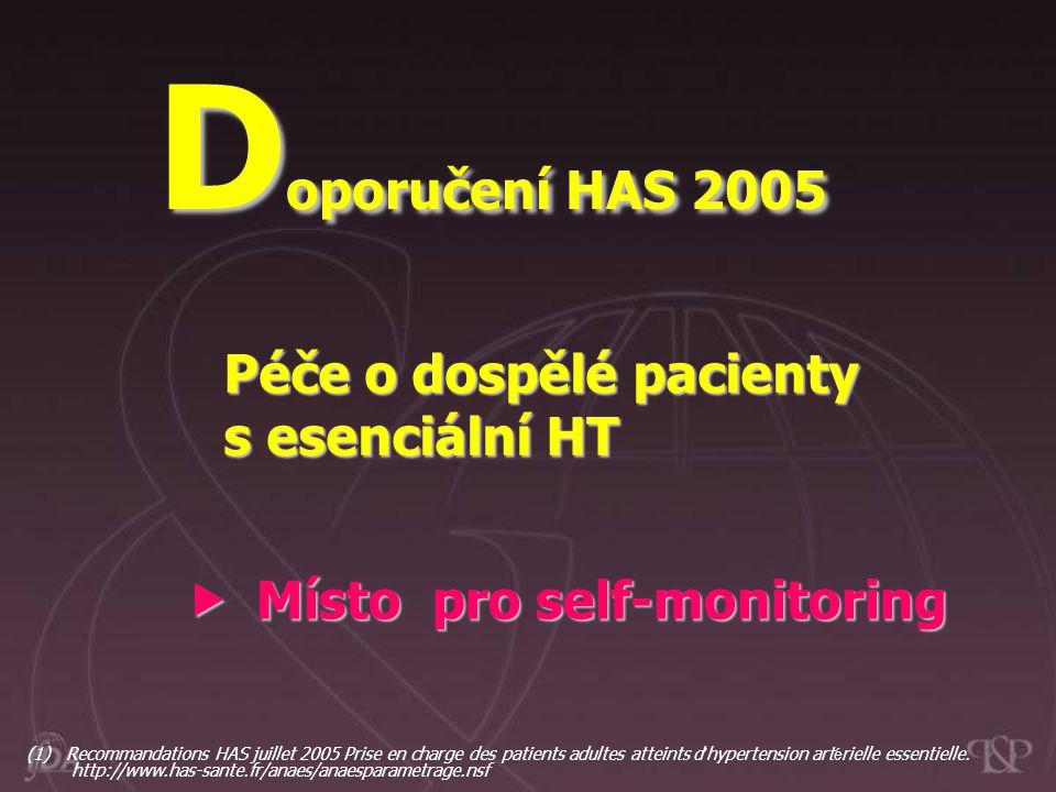 Doporučení HAS 2005 Péče o dospělé pacienty s esenciální HT