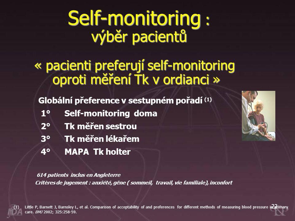 Self-monitoring : výběr pacientů