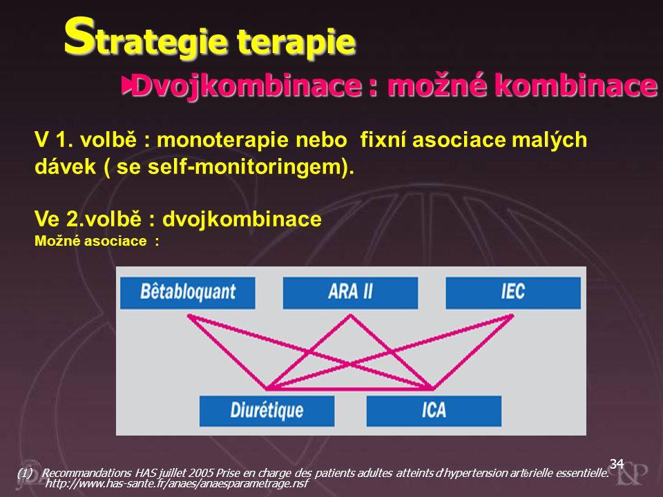 Strategie terapie Dvojkombinace : možné kombinace