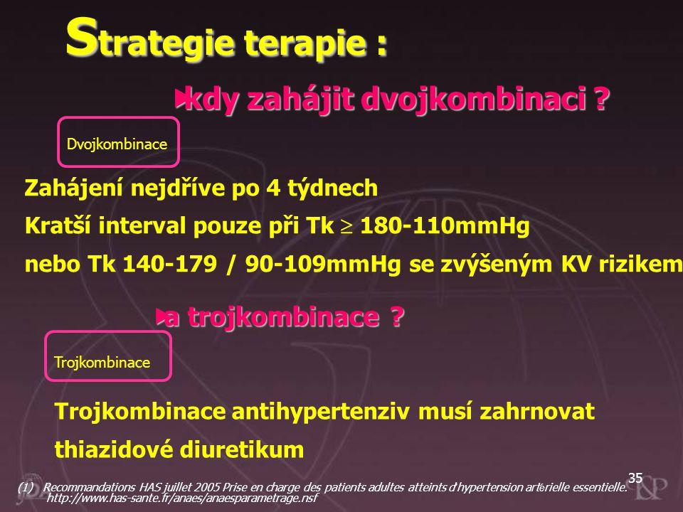 Strategie terapie : kdy zahájit dvojkombinaci a trojkombinace