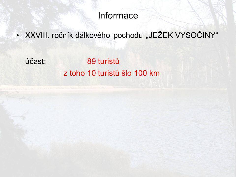 Informace účast: 89 turistů
