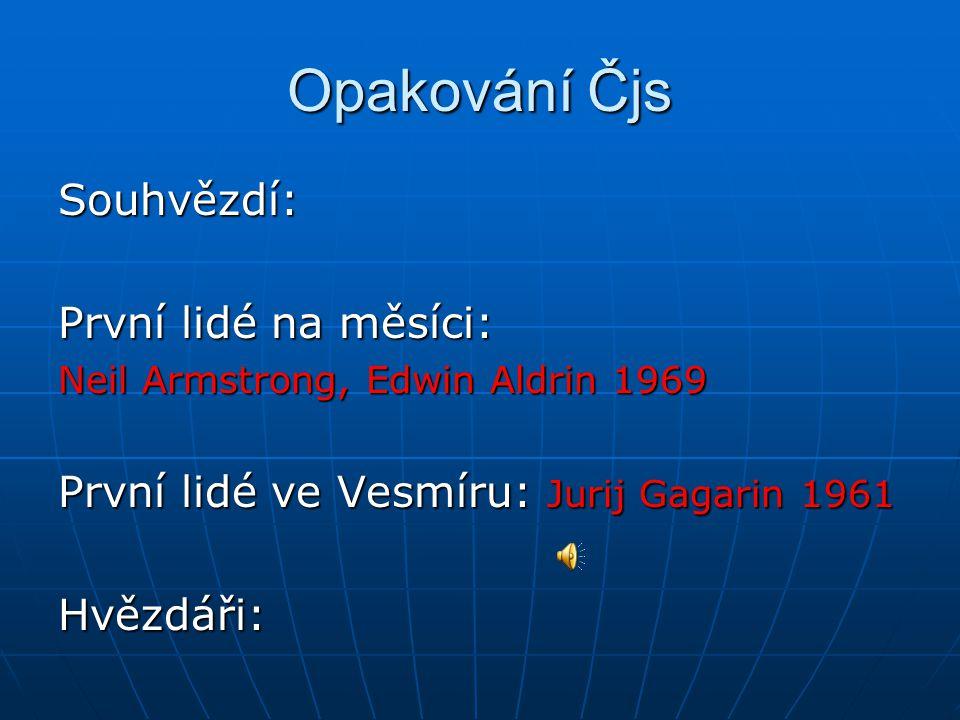 Opakování Čjs Souhvězdí: První lidé na měsíci: