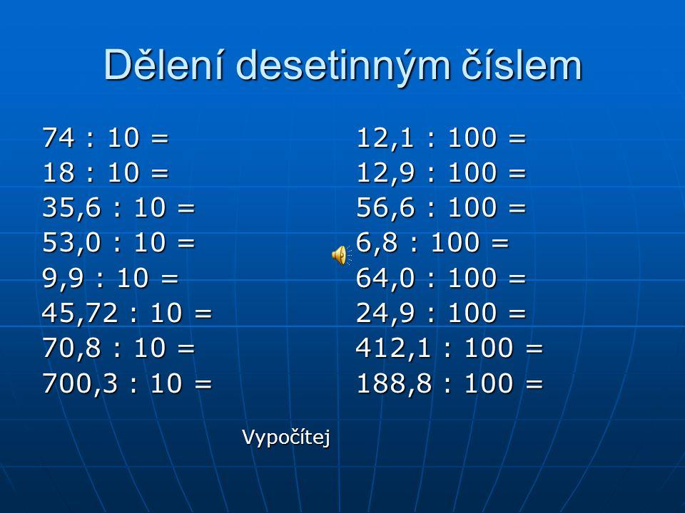 Dělení desetinným číslem