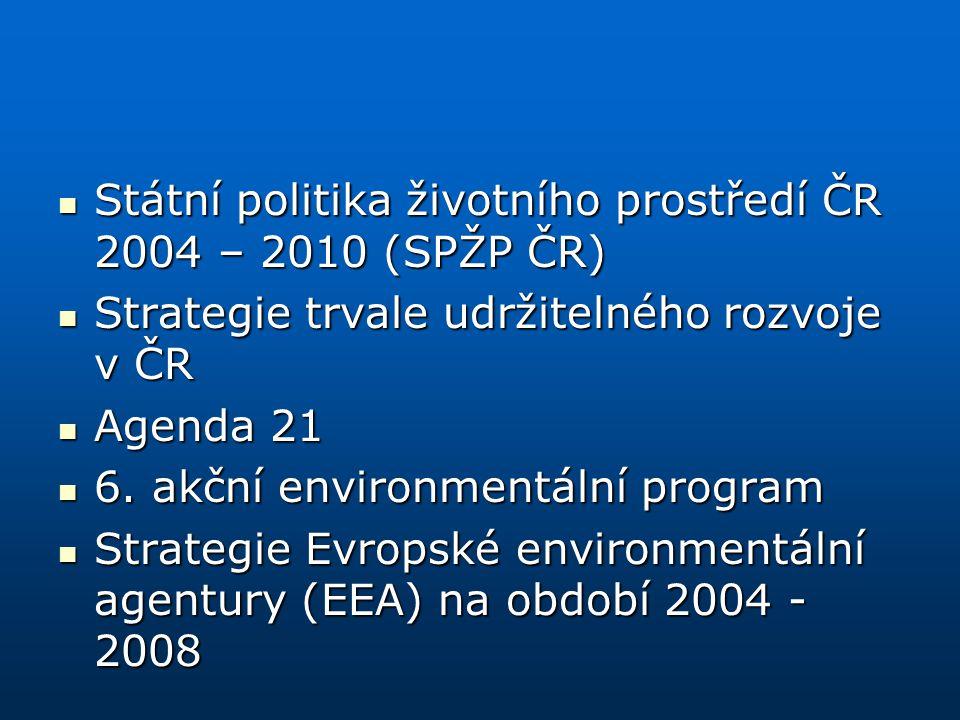 Státní politika životního prostředí ČR 2004 – 2010 (SPŽP ČR)