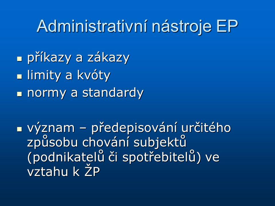 Administrativní nástroje EP