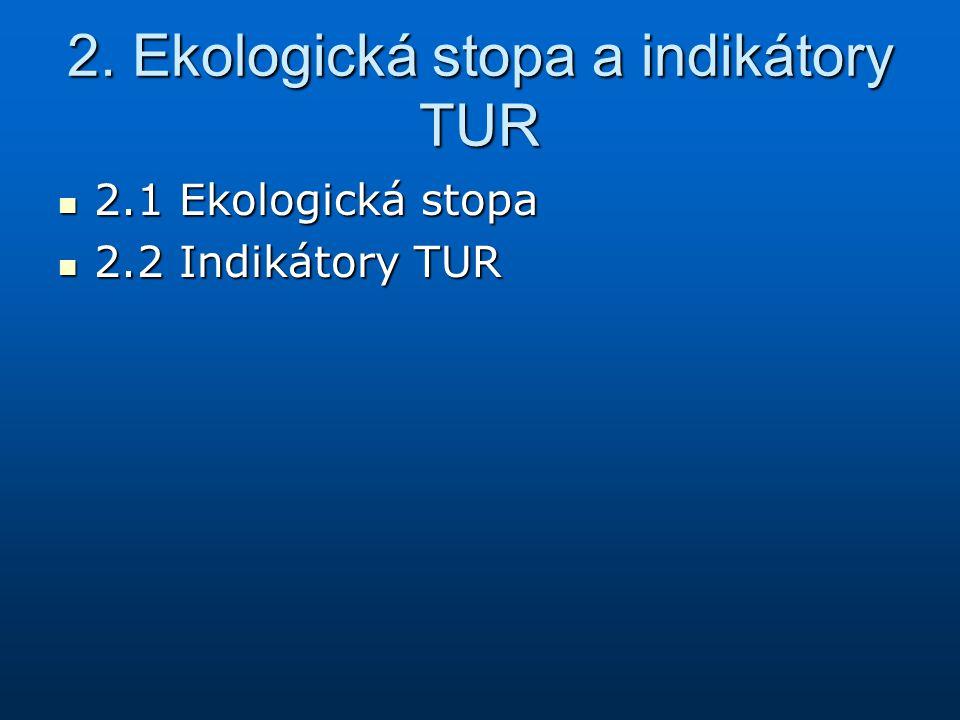 2. Ekologická stopa a indikátory TUR
