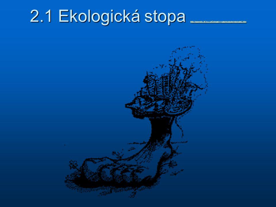 2. 1 Ekologická stopa http://apendix. bf. jcu