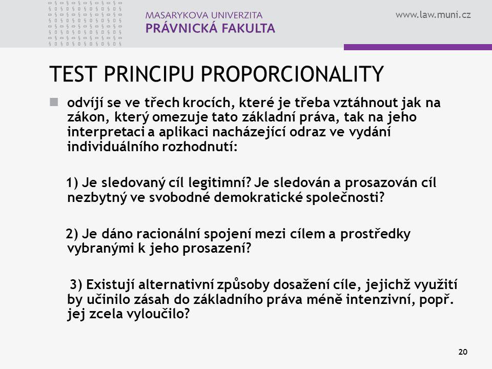 TEST PRINCIPU PROPORCIONALITY