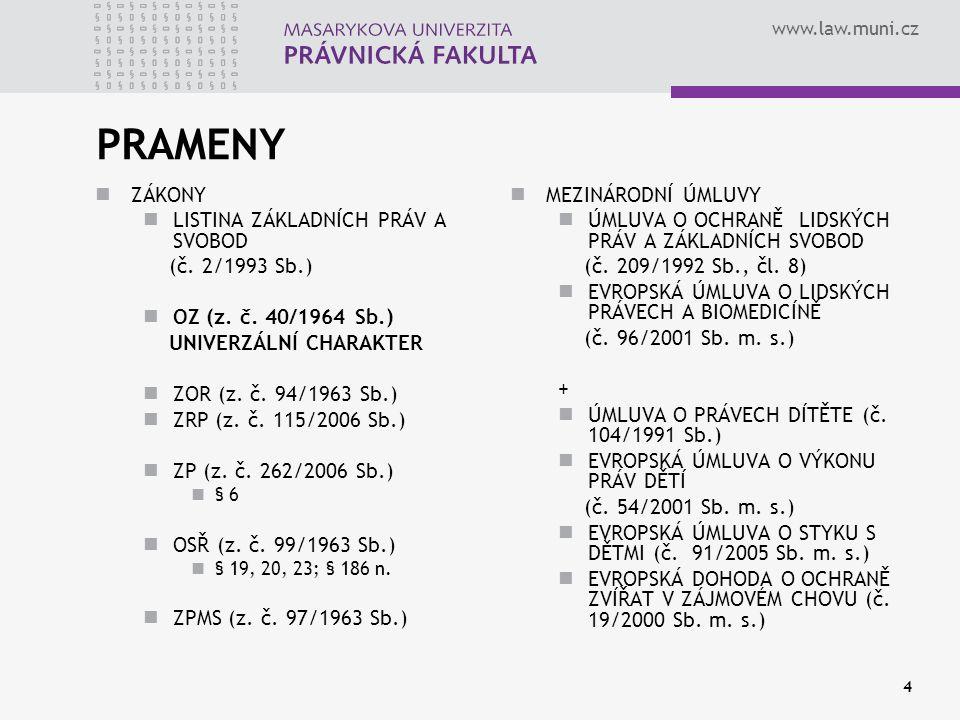 PRAMENY ZÁKONY LISTINA ZÁKLADNÍCH PRÁV A SVOBOD (č. 2/1993 Sb.)