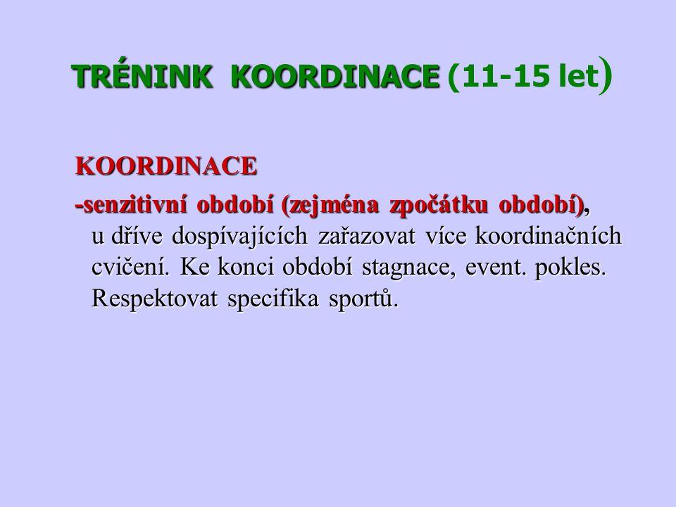 TRÉNINK KOORDINACE (11-15 let)