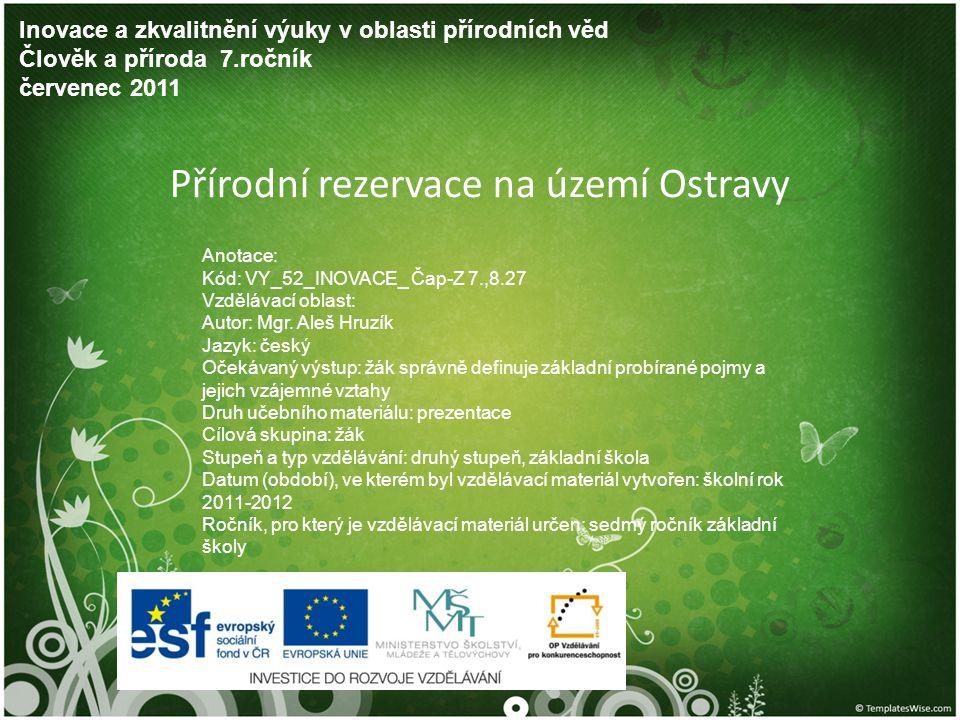 Přírodní rezervace na území Ostravy