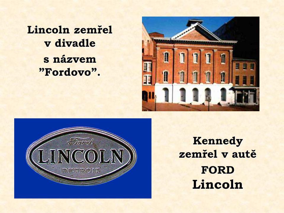 Lincoln zemřel v divadle