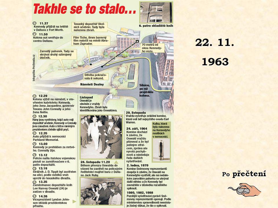 22. 11. 1963 Po přečtení