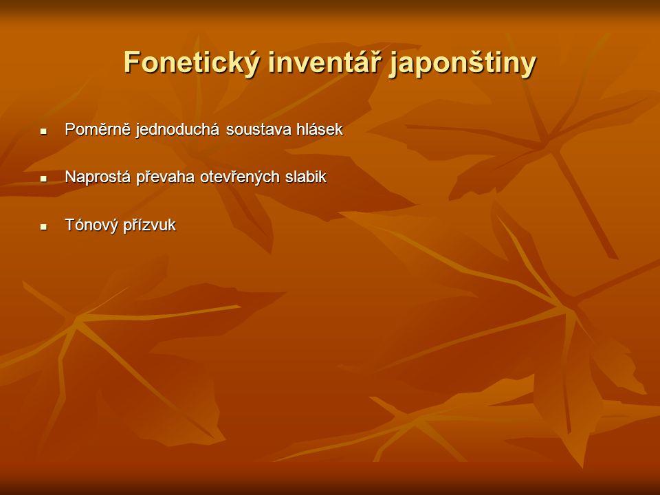 Fonetický inventář japonštiny