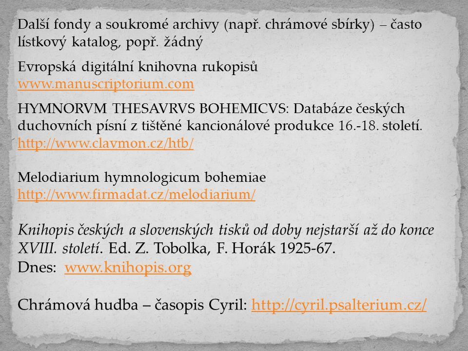 Chrámová hudba – časopis Cyril: http://cyril.psalterium.cz/