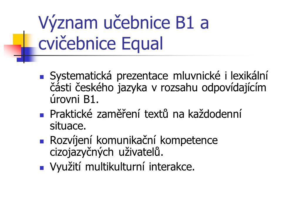Význam učebnice B1 a cvičebnice Equal