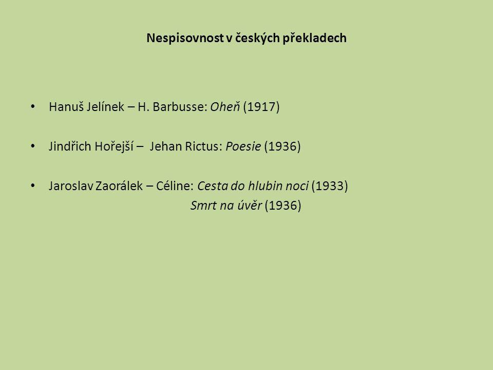 Nespisovnost v českých překladech