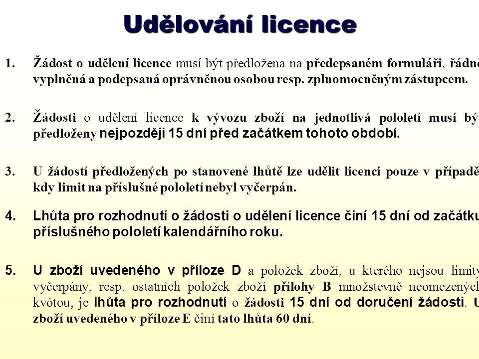Udělování licence