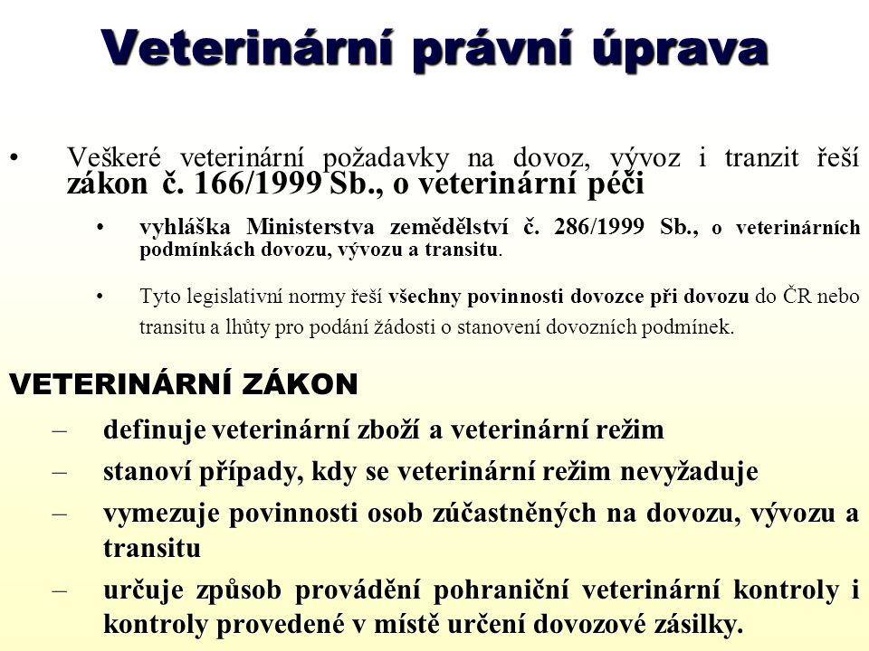 Veterinární právní úprava