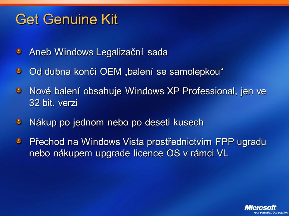 Get Genuine Kit Aneb Windows Legalizační sada