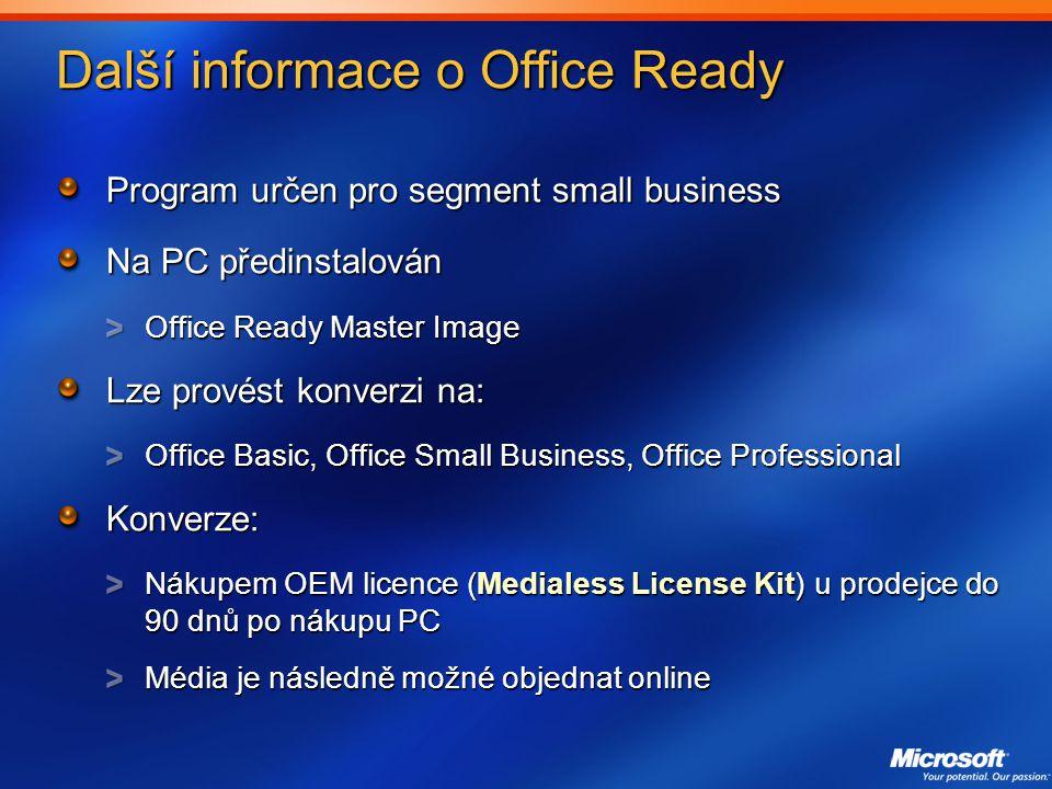 Další informace o Office Ready