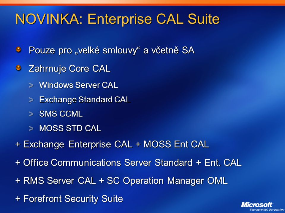 NOVINKA: Enterprise CAL Suite