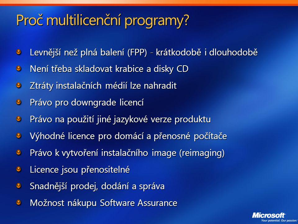 Proč multilicenční programy