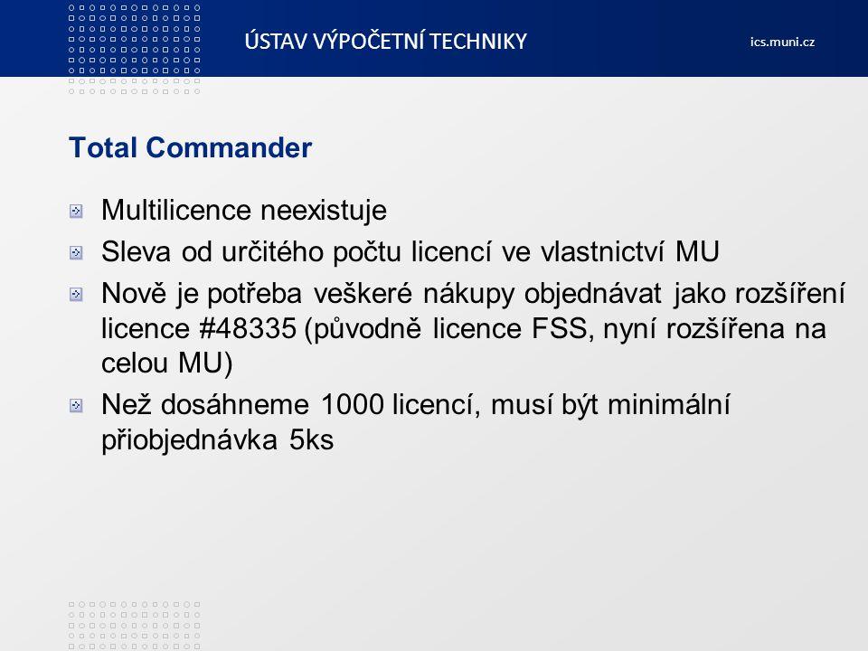 Total Commander Multilicence neexistuje. Sleva od určitého počtu licencí ve vlastnictví MU.