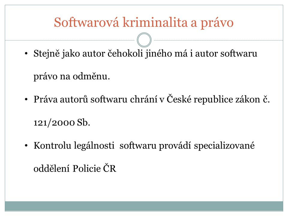 Softwarová kriminalita a právo