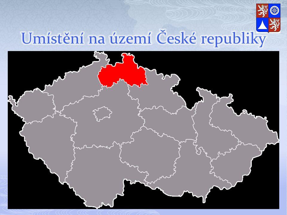 Umístění na území České republiky
