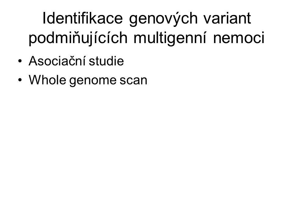 Identifikace genových variant podmiňujících multigenní nemoci