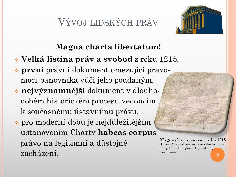 Magna charta libertatum!