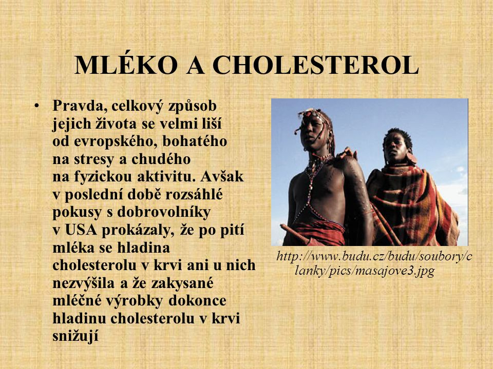 MLÉKO A CHOLESTEROL
