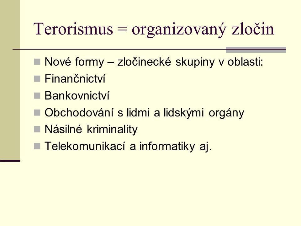 Terorismus = organizovaný zločin