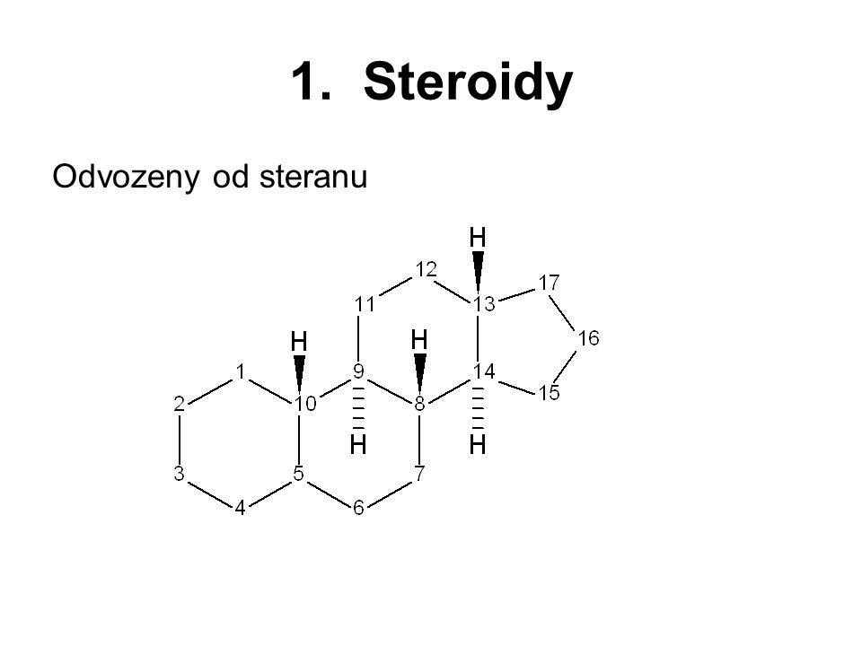 1. Steroidy Odvozeny od steranu