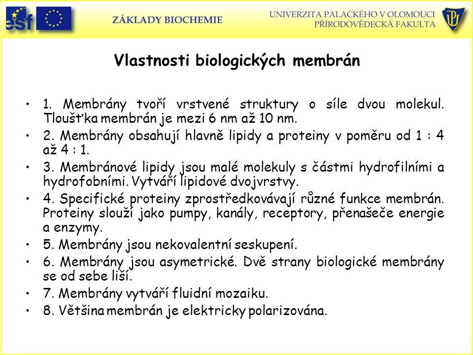 Vlastnosti biologických membrán