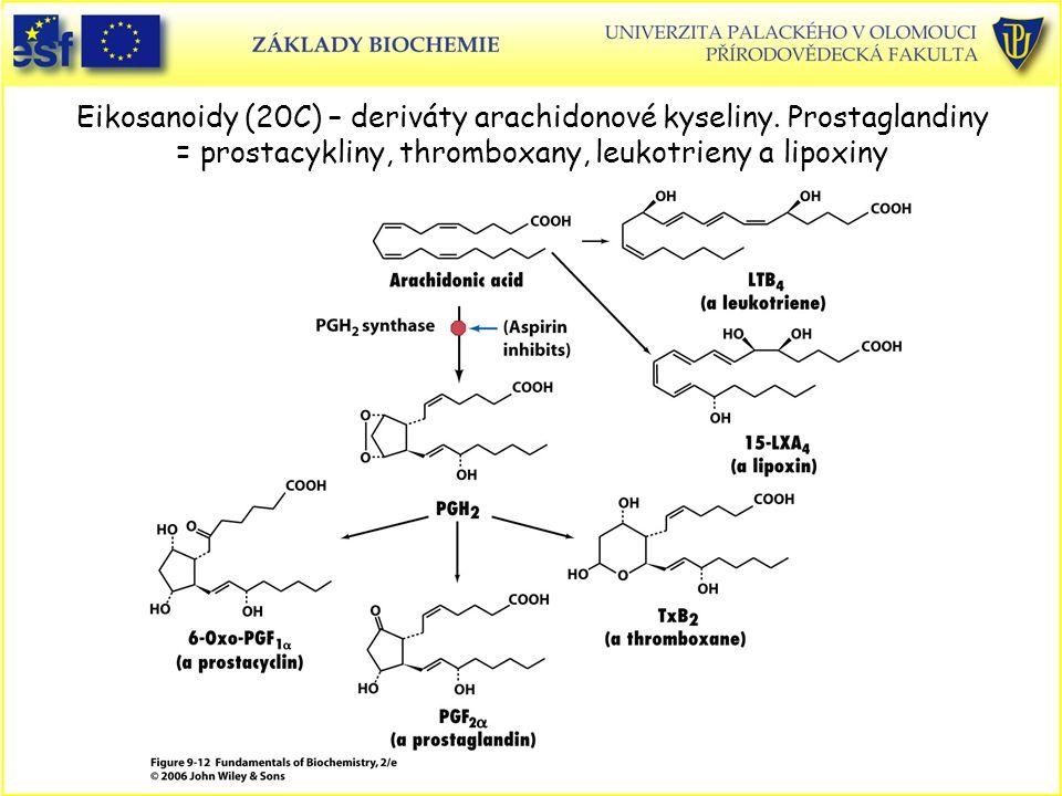 Eikosanoidy (20C) – deriváty arachidonové kyseliny
