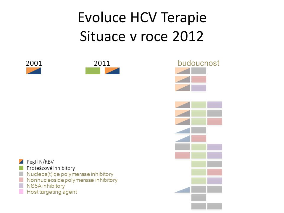 Evoluce HCV Terapie Situace v roce 2012