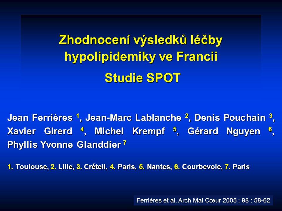 Zhodnocení výsledků léčby hypolipidemiky ve Francii Studie SPOT