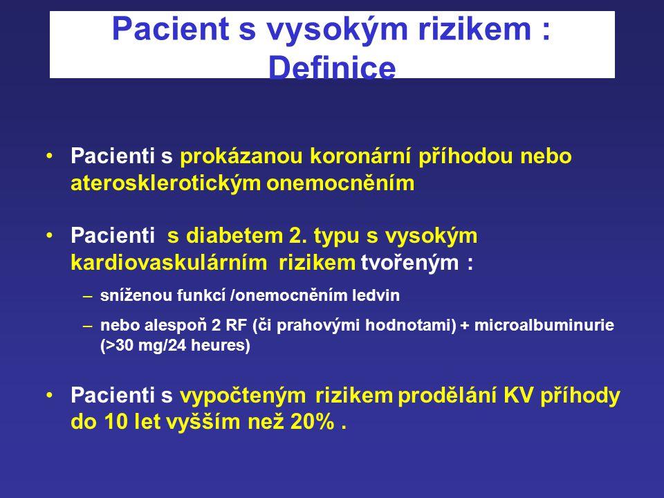 Pacient s vysokým rizikem : Definice