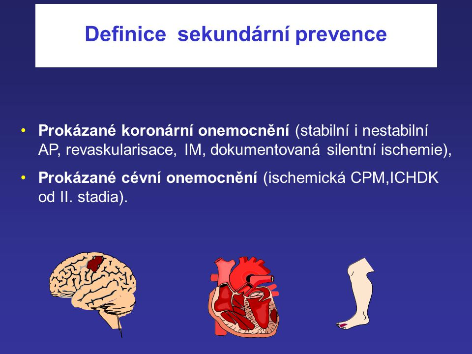 Definice sekundární prevence