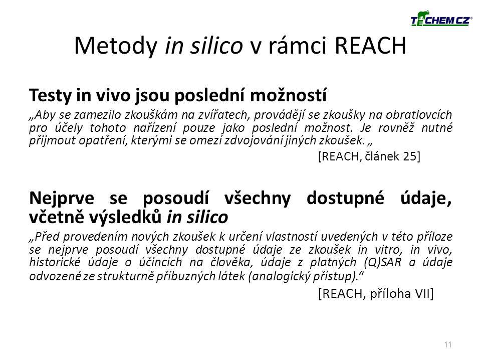 Metody in silico v rámci REACH