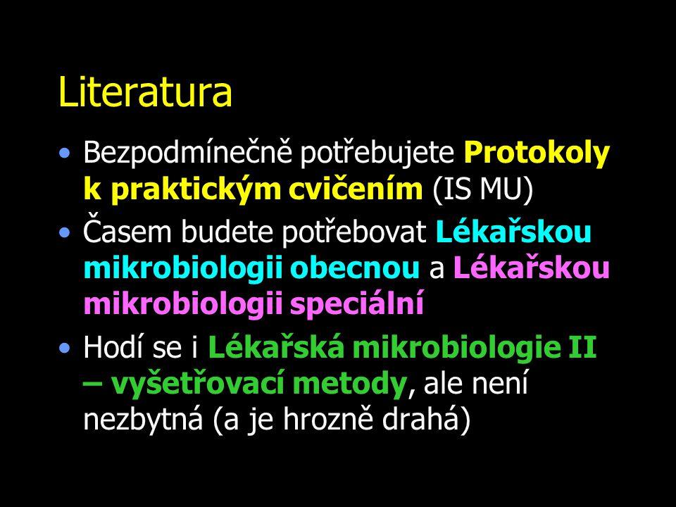 Literatura Bezpodmínečně potřebujete Protokoly k.praktickým cvičením (IS MU)