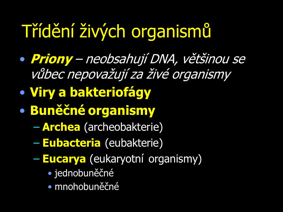 Třídění živých organismů