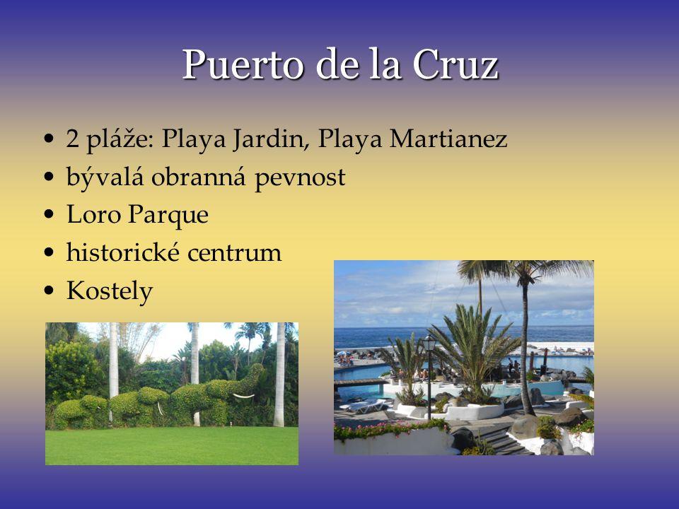 Puerto de la Cruz 2 pláže: Playa Jardin, Playa Martianez
