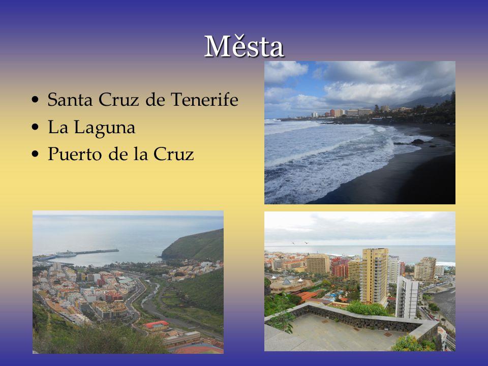 Města Santa Cruz de Tenerife La Laguna Puerto de la Cruz