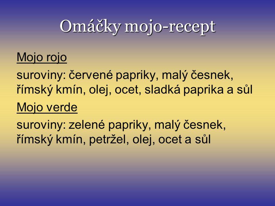 Omáčky mojo-recept Mojo rojo