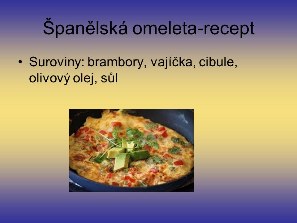 Španělská omeleta-recept