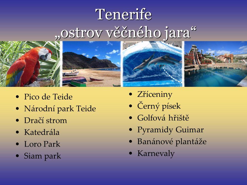 """Tenerife """"ostrov věčného jara"""